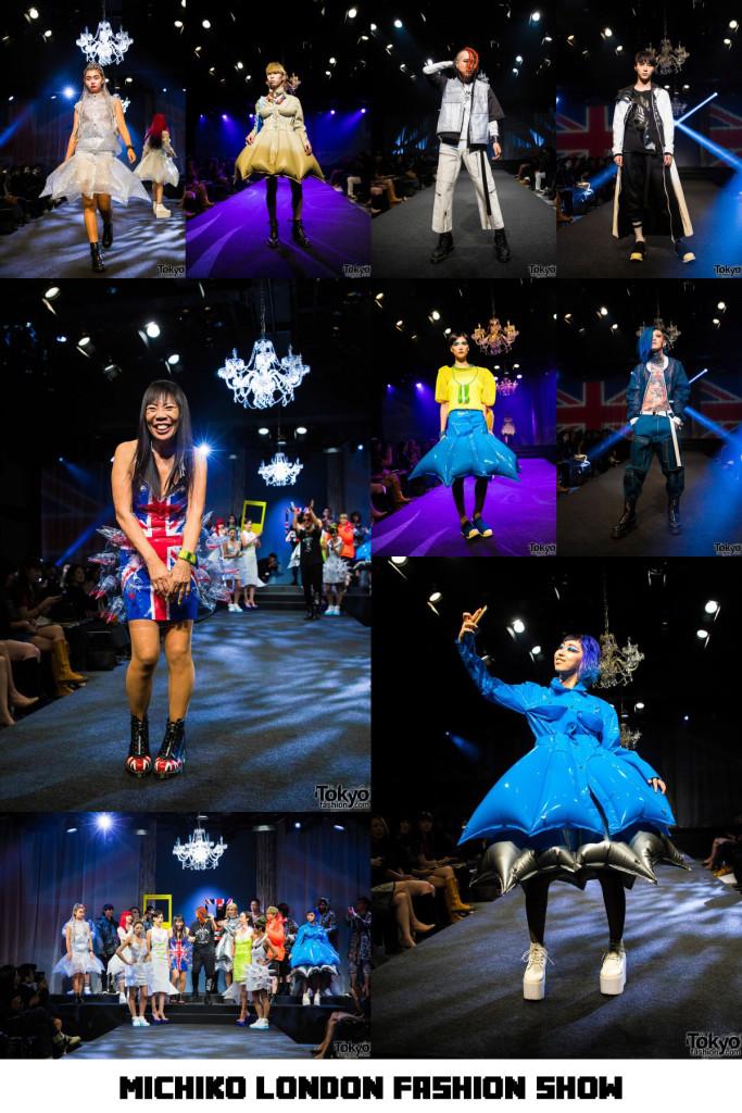 Michiko Londonファッションショー撮影 原宿ラフォーレ