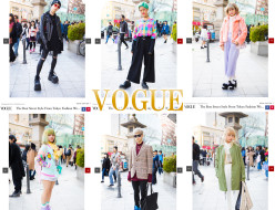 VOGUEにスナップ写真を提供 tokyo fashion week